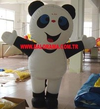 inflatable panda costume, inflatable mascot walker