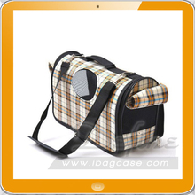 Wholesale top grade leather tote pet carrier