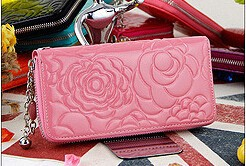 Alibaba supplier woman wallet fashion leather ladies elegant nice purse