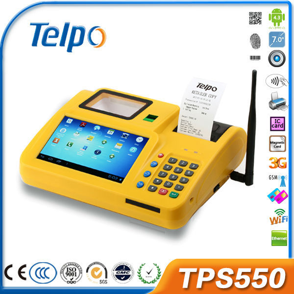 Telepower TPS550 GPRS CDMA WIFI GPS POS Terminal (China Low Price) For Sport Betting, Airtime, Top-up