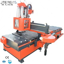 Multifunctional 3D Furniture Wood Cutting ATC CNC Router Machine Woodworking with Integrated Drilling Machine and Dual Table