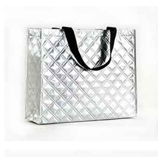 Metal silver non woven laser lamination shopping tote bag