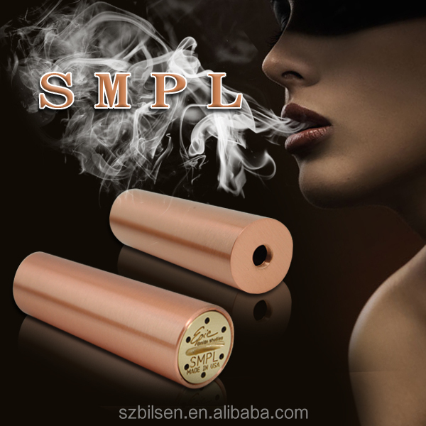 2016 factory retailing new e cigarette 18650 mod stainless steel/copper/brass mechanical mod SMPL mod