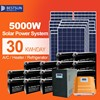 Top quality 5000w black mono solar panel 60 solar cells mono 5000w pv module 12v solar panel 5000w
