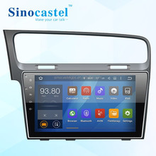 Android Single Din DVD With GPS Rearview Camera For VW Golf 7