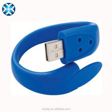 colorful mini silicone bracelet USB flash drive