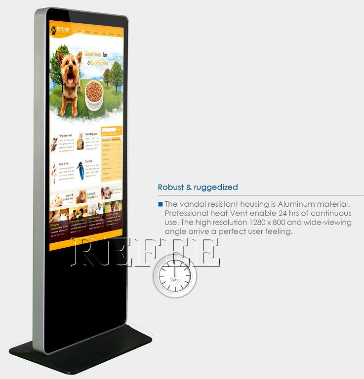 lcd touch screen advertising display,mirror tv advertising player