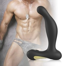 Silicone rechargeable vibrator prostate massager anal plug male sex instruments