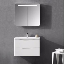 2018 The lowest price new coming design bathroom cabinet in pvc