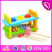 2015 Educational wooden xylophone toy for kids,colorful wooden toy xylophone for children,knock xylophone set for baby W07C031