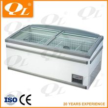 Supermarket open display cooler showcase retail refrigerator