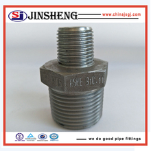 Forged pressure pipe fittings threaded hex nipple reducer