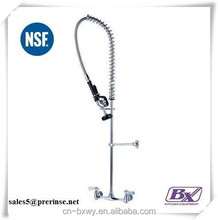 Commercial Kitchen Single Hole Professional Faucet Wall Mounted Pre Rinse Unit