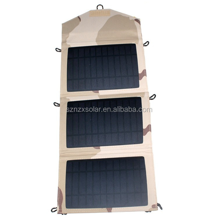 Factory Supplied Waterproof 10W Portable Solar Charger Fabric Solar Charger for phones