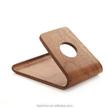 100% eco-friendly universal cell phone wood holder wooden stand holders
