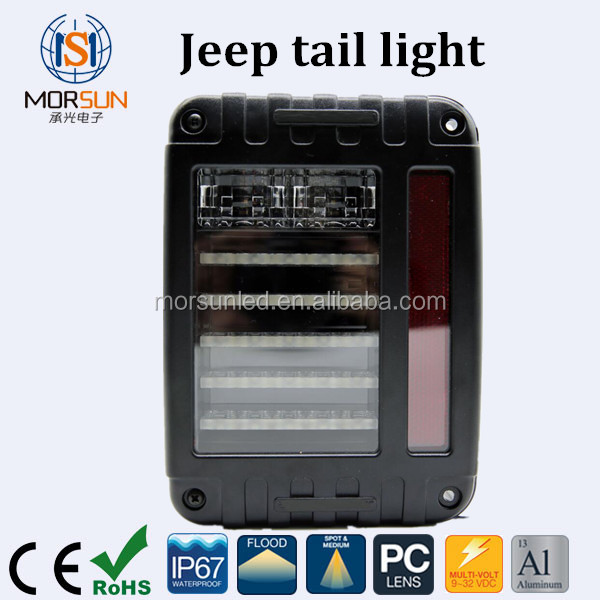 Jeep Wrangler JK LED Brake Tail Lights Rear Signal Reverse Lamps American/Earopean Type tail led for Jeep 2007-2015