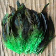 dyed green rooster feathers for hair extensions cheap