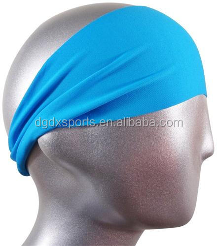 high quality polyester spandex print headbands custom sports yoga cheap wide hair headbands