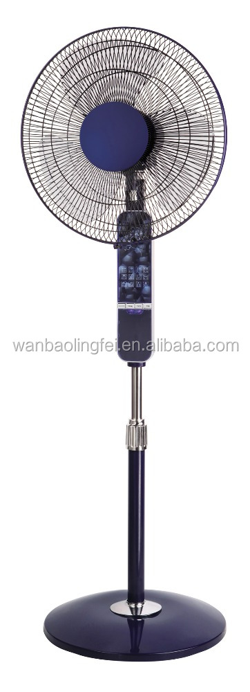 ABS 16 inch stand fan with remote control LED light