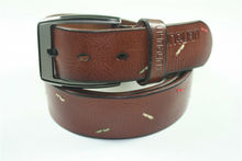 MENS LEATHER WORK BELT_AMISH HANDMADE_BELTS
