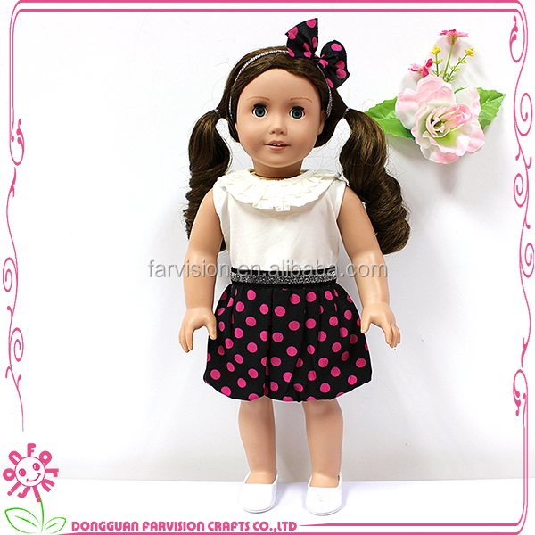 18 inch young girl baby doll toys with full cloth body wholesale