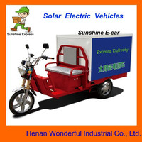 Solar three wheels delivery motorcycles