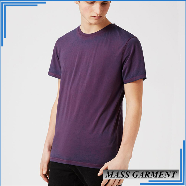 Custom Longline Curved Hem Tall Tee Men Clothing Chinese Clothing