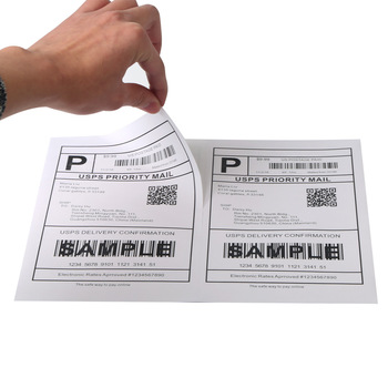 Half sheet adhesive shipping labels a4 paper sheet stickers for usps, dhl, ups, amazon, fba