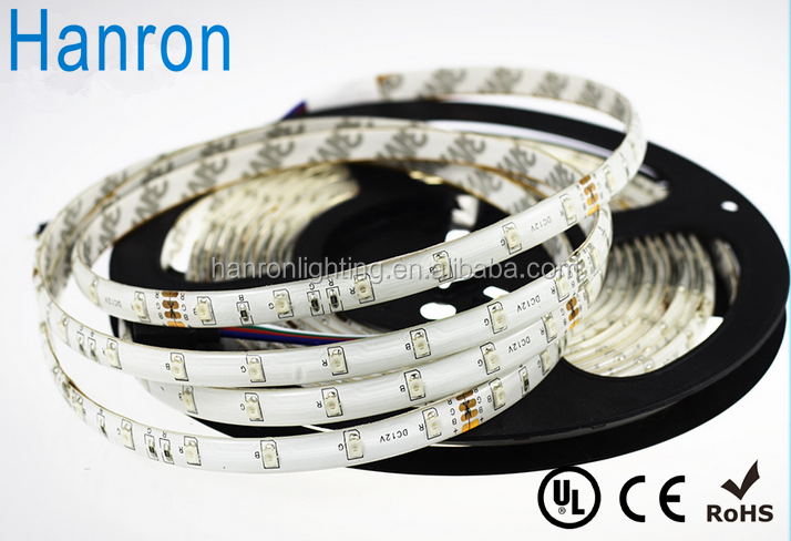 DC 12V 24V RGB color IP65 waterproof smd 3528 60led led flexible strip light tape with 5 years warranty