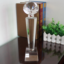 best sell customized Diamond souvenir award k9 Crystal glass Trophy on sell