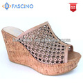 Fashionable lady sandals with leather 2014