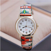Popular Silicone Quartz lady Golden Crystal Watch with 3ATM Water Resistant
