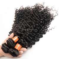 natural black curly brazilian human hair extensions for black women,100g per bundle virgin brazilian hair extension