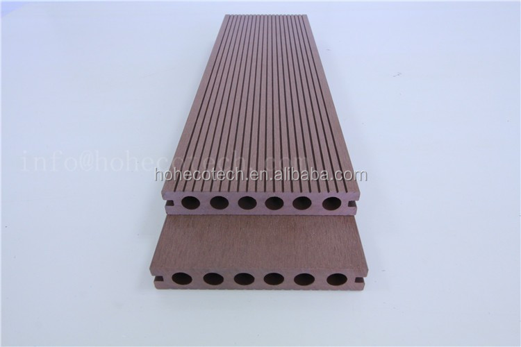Non slip wood plastic composite deck flooring view wpc for Non wood decking material