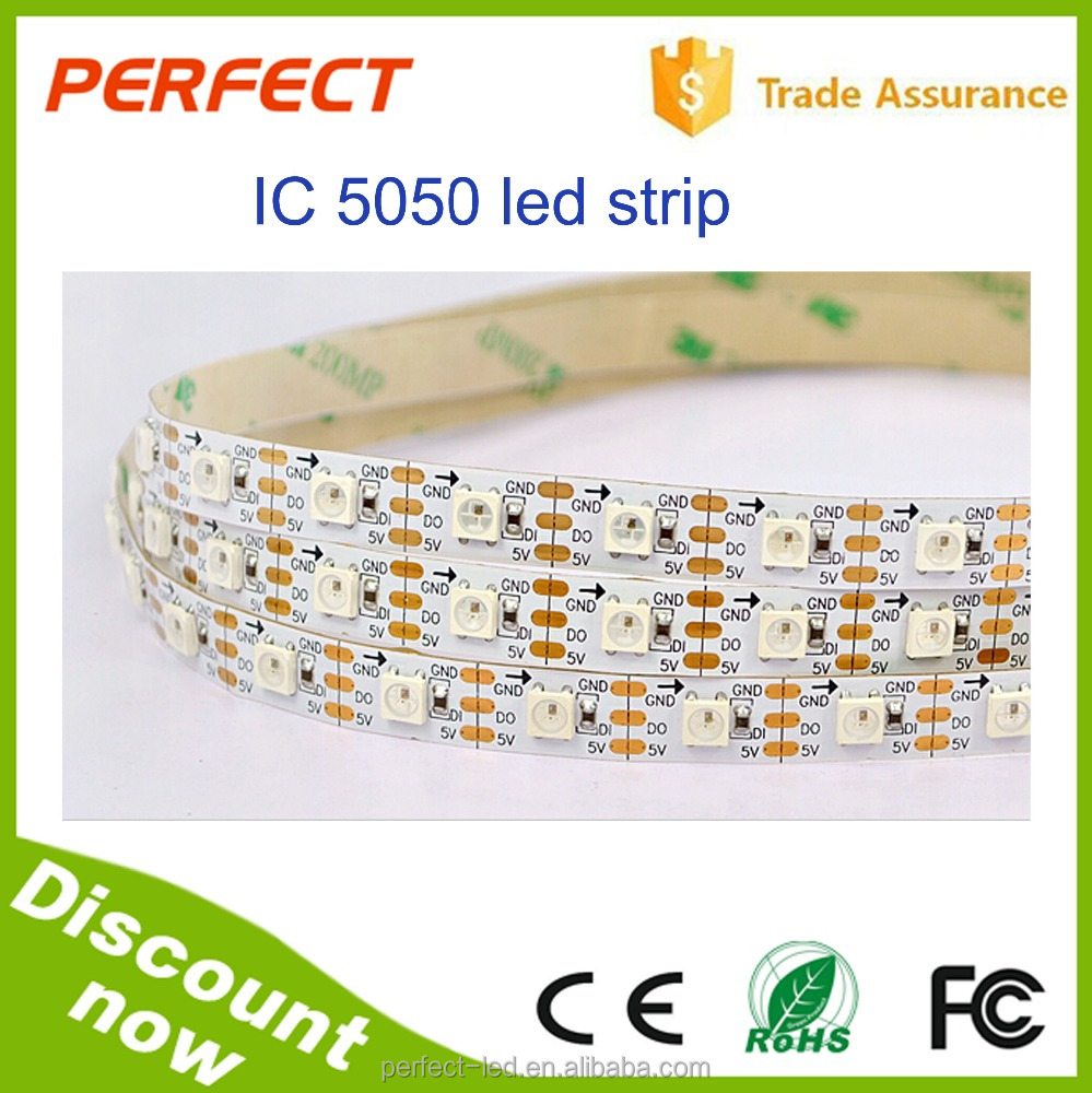Discount WS2812B led strip light IP20 DC5V 60 led/meter digital rgb 5050 led strip