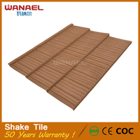 Most popular product Wanael Shake stone coated metal roof tile with high quality