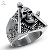Wholesale Latest Design Islamic Muslim Men Silver Ring, Boy Handmade Mounting Skull 18k Sterling Silver Ring