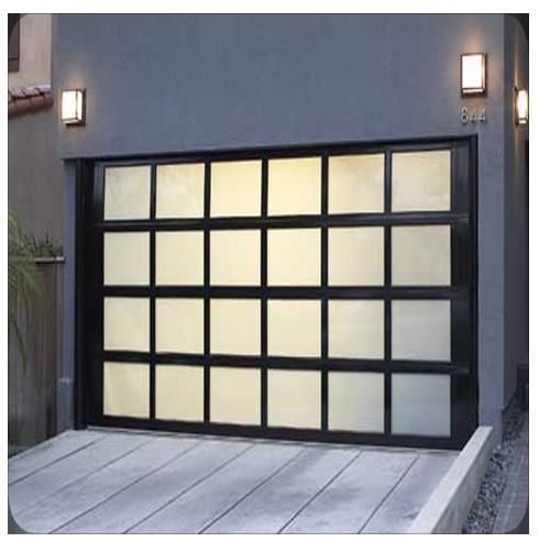 Black Aluminum Frame Glass Garage Door Price Lowest Shenzhen