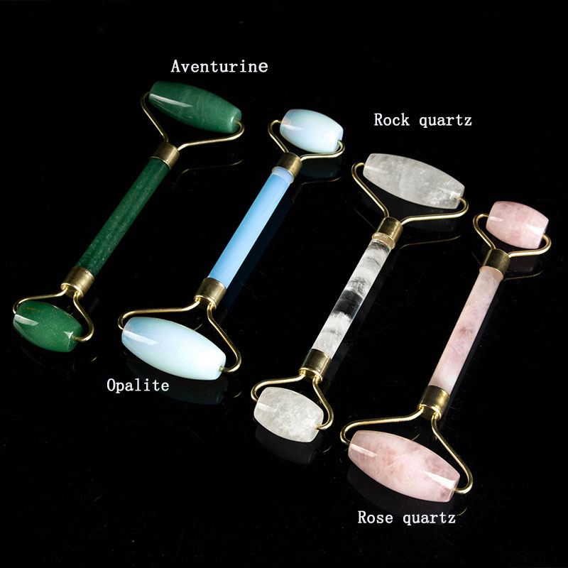2019 new color 100% Nature Stone Anti-Aging face roller jade slimming massager