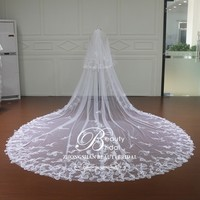 veil wedding bridal long, fan veil