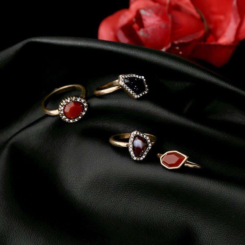 New Gold Plated Color Single Artificial Stones Rings Design For Women In India