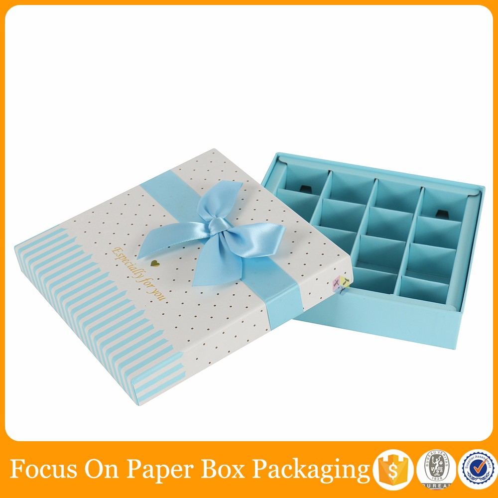 chocolate gift paper box inserts packaging
