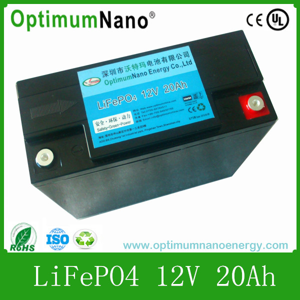 Rechargeable lithium ion battery 12v 20ah for CCTV/CAMERA/MONITORING SYSTEM