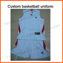 Runtowell womens custom printed basketball / basketball jersey uniform design / basketball uniform set