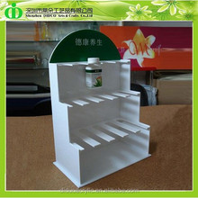 DDQ-0123 Trade Assurance Shenzhen Factory Wholesale White Acrylic Medicine Bottle Holder