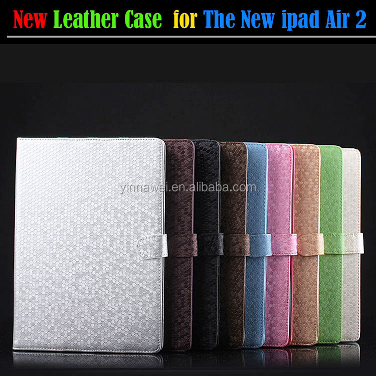 PU leather diamond pattern Defender Case For ipad air 2 case