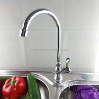 Metal Chrome Plated Deck Mounted Kitchen Sink Faucet