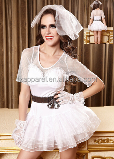 M,L Bride wedding dress comes with dress head veil and gloves