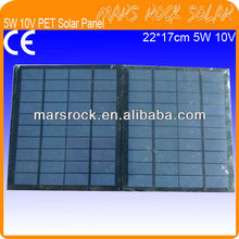 5W 10V 220x170mm Mini PET Solar Panel Module