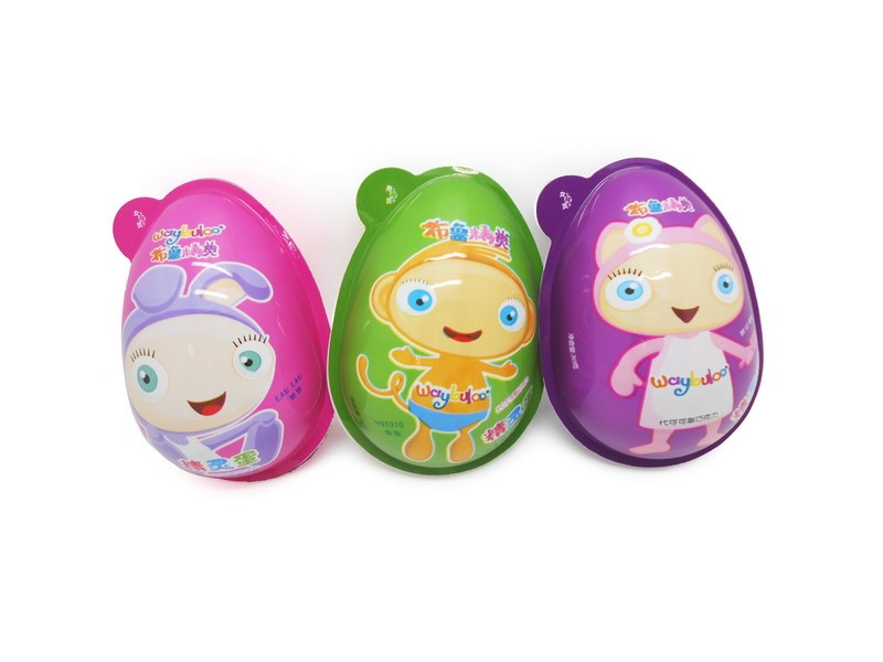 Funny Q candy toys Interesting egg with chocolate and funny toys surprise egg 6pcs